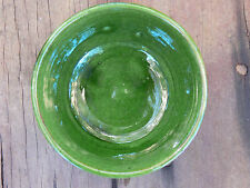 Moroccan hand-made pottery green bowls.