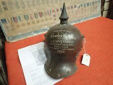 More details for rare original charlie chaplin presented ww1 german steel helmet with provenance