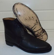 BLACK LEATHER GEORGE DRESS BOOTS - Size: 9 Medium , British Army , Uppers bulled