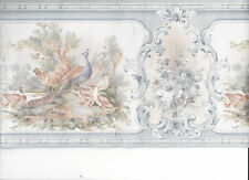 WALLPAPER BORDER PEACOCK CHICKEN DUCK BIRD FLOWERS FLORAL BIRDS NEW ARRIVAL