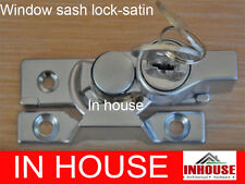 Window Sash Lock, Keyed Alike 2 keys- Satin