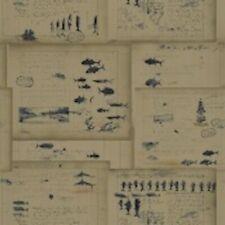Double Roll of Coastal Ralph Lauren Wallpaper R$124/Dr Captain's Log Cl Indigo