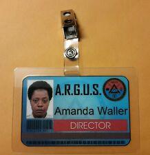 Suicide Squad Id badge- ARGUS Director Amanda Waller cosplay costume Prop