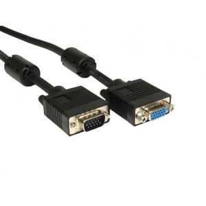 SVGA CABLE VGA CABLE MALE TO FEMALE MONITOR LEAD 2 MTR ***EXTENSION CABLE***