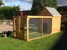 Dog Kennel and Run for Medium to Large Dog 8ft x 3ft - Quality item
