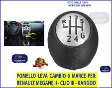 RENAULT Clio III dal 2005 al 2013  Pomello Leva Cambio  a 6 Marce Auto