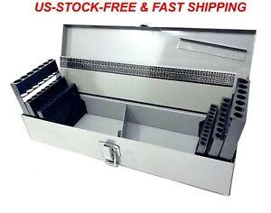 NEW! INDEX STORAGE & METAL CASE EMPTY 115PC DRILL BITS HOLDER ORGANIZER BOX