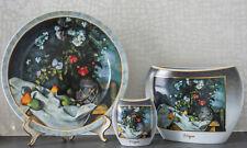 Goebel Porzellan Artis Orbis 2 Vasen und 1 Wandteller Paul Cezanne edel