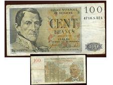 BELGIQUE  BELGIUM   100 francs 11 / 01 /  54