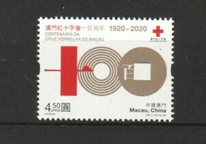 MACAU 2020 CENTENARY OF THE MACAU RED CROSS COMP. SET OF 1 STAMP IN MINT MNH
