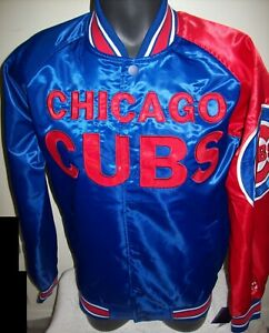 CHICAGO CUBS MLB STARTER Snap Down Jacket Sping/Summer RED/BLUE