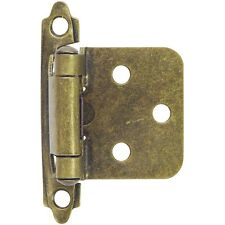 Hardware House 64-2504 Flush/Overlay Cabinet Hinges Antique Brass