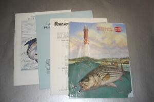 2 Penn reel catalogs plus assorted dealer & catalog price lists