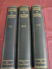 Shakespeare In Deutscher Sprache German Translated By F. Gundolf Rare 1925 Books