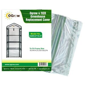 Replacement Plastic PVC Cover 4 Tier Small Mini Greenhouse Garden Grow House Bag