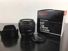 Canon 28mm F/1.8 USM EF Mount Lens t1i t2i t3i t4i 40D 50D 60D 70D 80D 7D 5D 6D