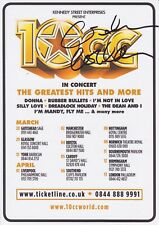 Graham Gouldman HAND SIGNED Flyer, Autograph, 10CC I'm Not In Love Rubber B