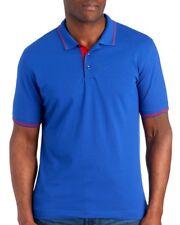Robert Graham Mens Cobalt Blue Cotton Classic Fit Polo Shirt NWT $98 Size L