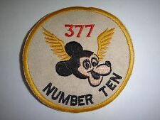 US 377th MEDICAL Company WINGED MICKEY MOUSE With NUMBER TEN Novelty Patch