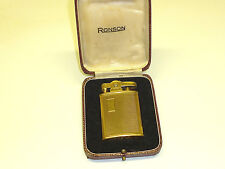 RONSON SOLID 9CT GOLD BANKER LIGHTER - FEUERZEUG - PAT. 621570 - ENGLAND- NICE