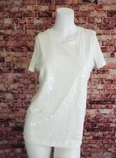 Old Navy Ivory Sequined Tank Top Blouse Shirt Size PS