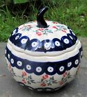 Внешний вид -  Boleslawiec Polish Pottery  PUMPKIN shape Jar / Canister / Bowl with Lid NEW