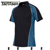 TACVASEN Men's Polo T Shirts Plain Horse Tennis Dri-FIT Golf Shirts Jersey Tops