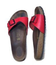 Birkenstock Madrid Birko-Flor RED Sandal Single Strap Cork Size 40 Womens 9.5-10