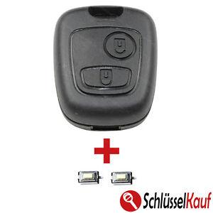 NEU Autoschlüssel + 2x TASTER passend für PEUGEOT 106 107 206 207 306 307 BOXER