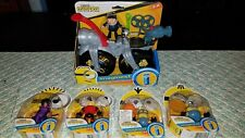 MINIONS The Rise Of Gru Movie GRU'S ROCKET BIKE & Mini Figure EXTRAS LOT OF 5