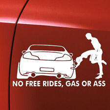 Funny No Free Rides Gas Or *** Car Boat Window Decor Vinyl Decal Sticker Cover