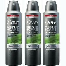 3 Pack Dove Men + Care Elements Minerals & Sage Antiperspirant Deo Spray 150ml