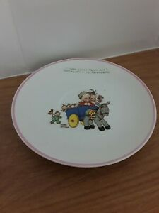 ANTIQUE NURSERY SAUCER MABEL LUCIE ATTWELL, SHELLEY CHINA, FAIRIES 1920/30s BOO