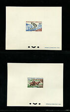Gabon1964 Fauna Monkey Fish Cows Sc 172-4 Set of 3 Deluxe Proofs