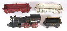 1890s CAST IRON FOUR PIECE MICHIGAN CENTRAL RAILROAD FLOOR TRAIN TOY By DENT