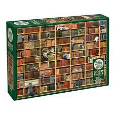 Outset Media Books and Cats 1000 Piece Jigsaw Puzzle