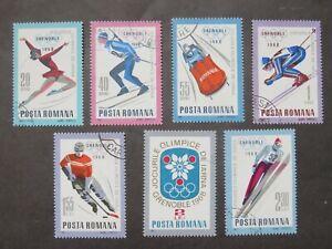 1967 Rumänien Mi-Nr. RO 2620-2626 Komplettsatz gestempelt Olymp. Spiele Grenoble