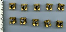 LEGO x 10 Pearl Gold Minifig, Armor Breastplate with Leg Protection, King Jayko
