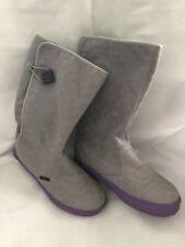 Vans Women's Vintage Rain Boots Textile Size 7 Checkered Gray
