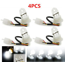 4pcs 20W White HID Car Lamp Bulbs Emergency Daytime Strobe Flash Light Bulbs 12V