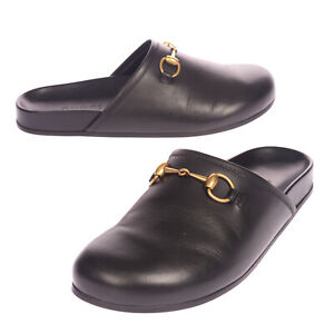 RRP €760 GUCCI Leather Mule Shoes Size 40 UK 6 US 6.5 Horsebit Made in Italy