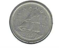 1969 Canadian Circulated QEII & Sailboat 10 Cent Coin!