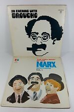 """MARX BROTHERS & GROUCHO DOUBLE 12"""" VINYL RECORD ALBUMS"""