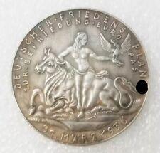 Piece Hitler 1936 10RM Reichsmark Coin Deutscher Friedens plan ww2 German