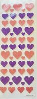 Glitter Pink & Purple Hearts Planner Stickers Papercraft  Crafts Valentine's Day