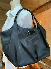 Kate Spade Gloss Black Patent Leather Details Satchel Fabric Shoulder Bag