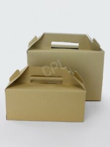 Takeaway Bakery Food Gift Delivery Small Kraft carry packs box/125