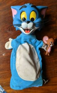 Vintage Mattel Tom & Jerry Hand Puppet Pull String Talking Toy 1965