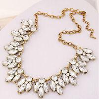 Bib Crystal Statement Pendant Chain Choker Collar Necklace Fashion Jewelry