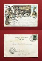 Litho AK FRANKFURT am Main 1899 Restauration von Keim Brauerei Schneider ( 61853